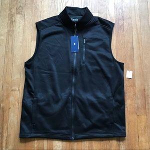 NWT Izod Men's Black Zip Up Vest